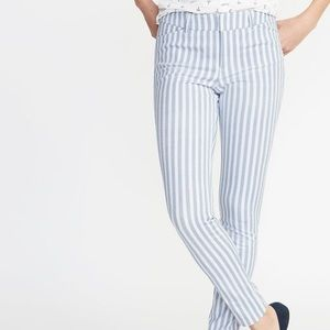 Old Navy Pixie Cotton Striped Ankle Pants 14 L NWT